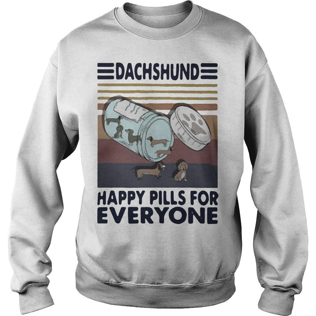 Vintage Dachshund Happy Pills For Everyone Sweater