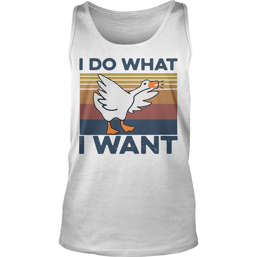 Vintage Duck I Do What I Want Tank Top