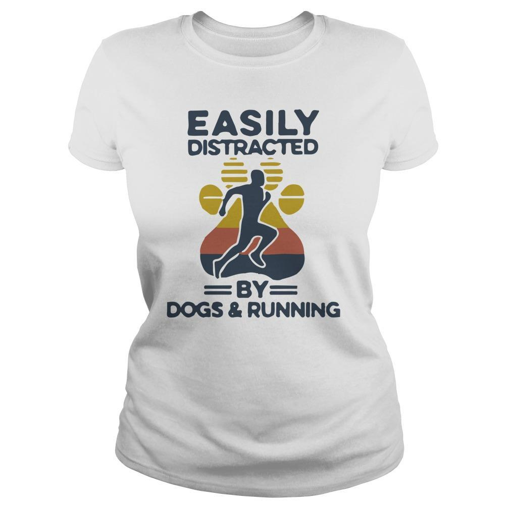 Vintage Easily Distracted By Dogs And Running Tank Top