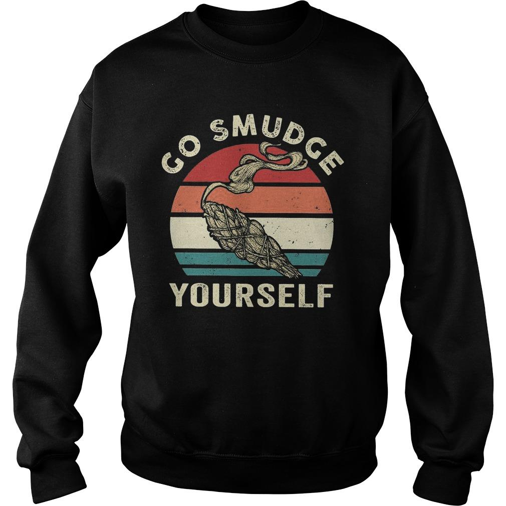 Vintage Go Smudge Yourself Sweater