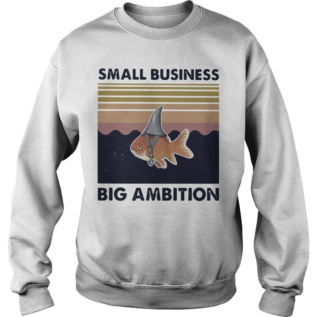 Vintage Goldfish Small Business Big Ambition Sweater