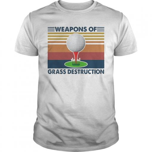 Vintage Golf Weapons Of Grass Destruction Shirt