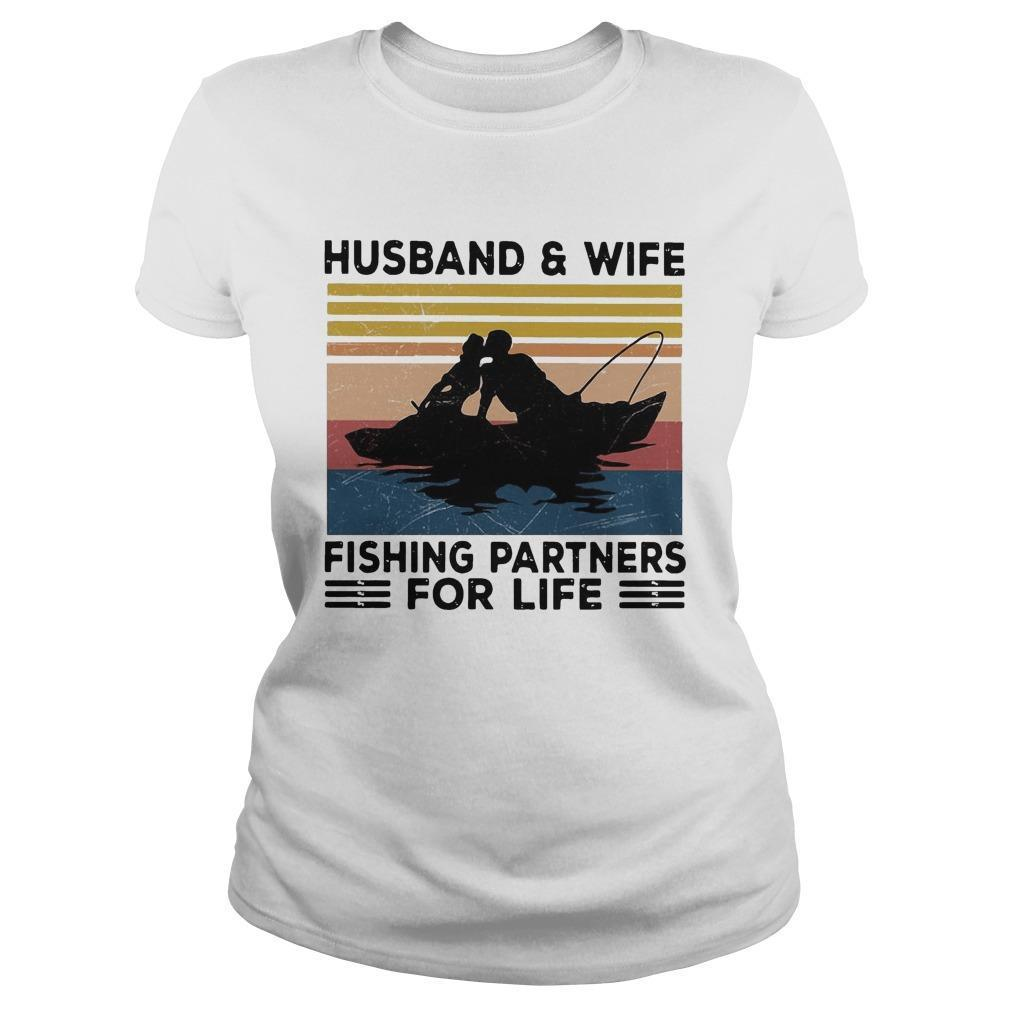 Vintage Husband And Wife Fishing Partners For Life Sweater