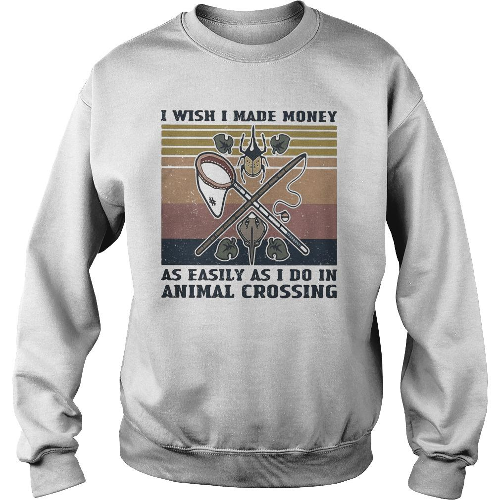 Vintage I Wish I Made Money As Easily As I Do In Animal Crossing Sweater