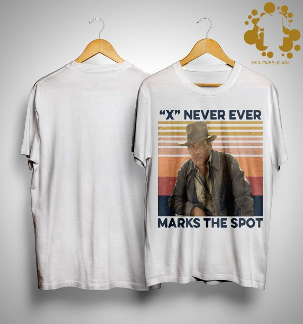 Vintage Indiana Jones X Never Ever Marks The Spot Shirt