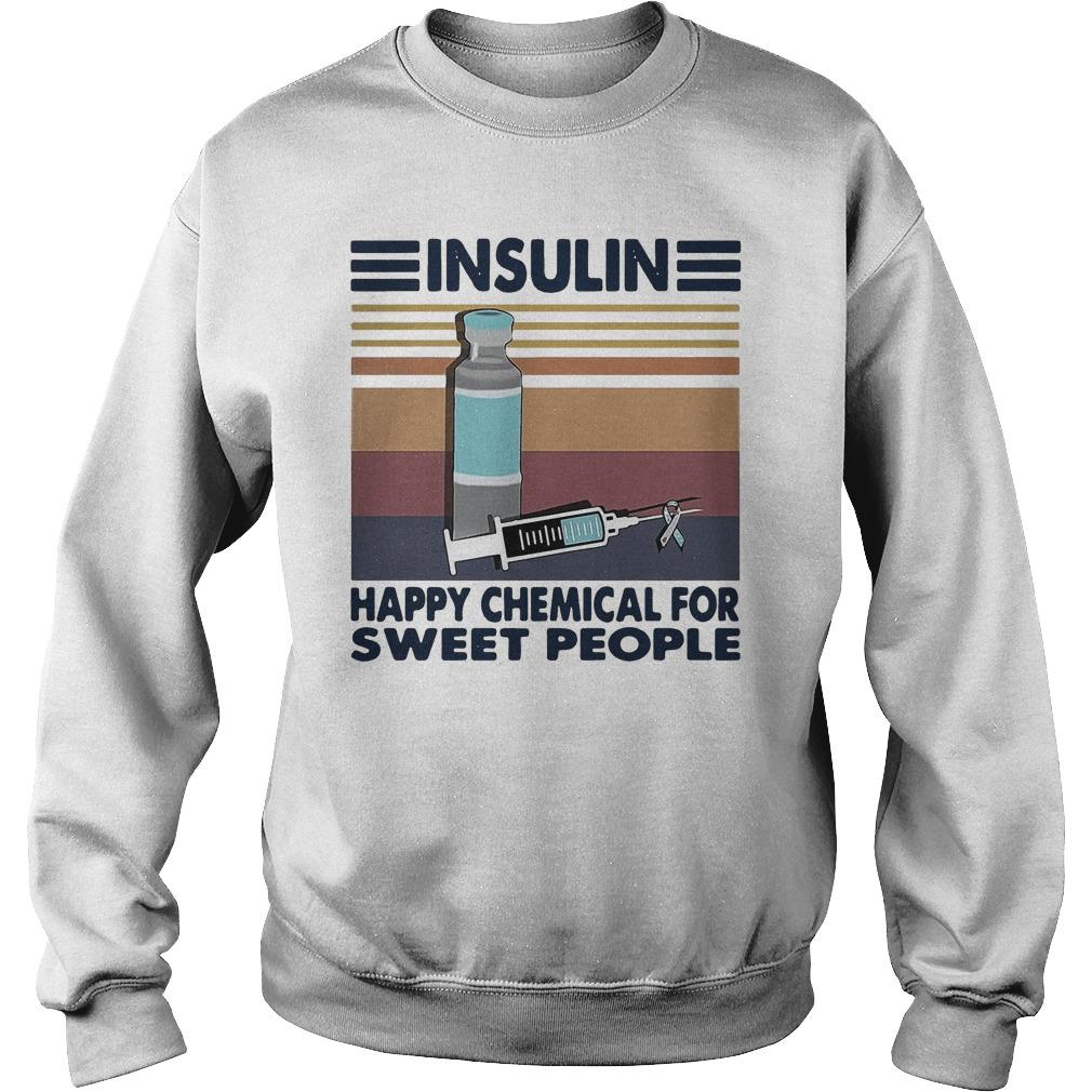 Vintage Insulin Happy Chemical For Sweet People Sweater