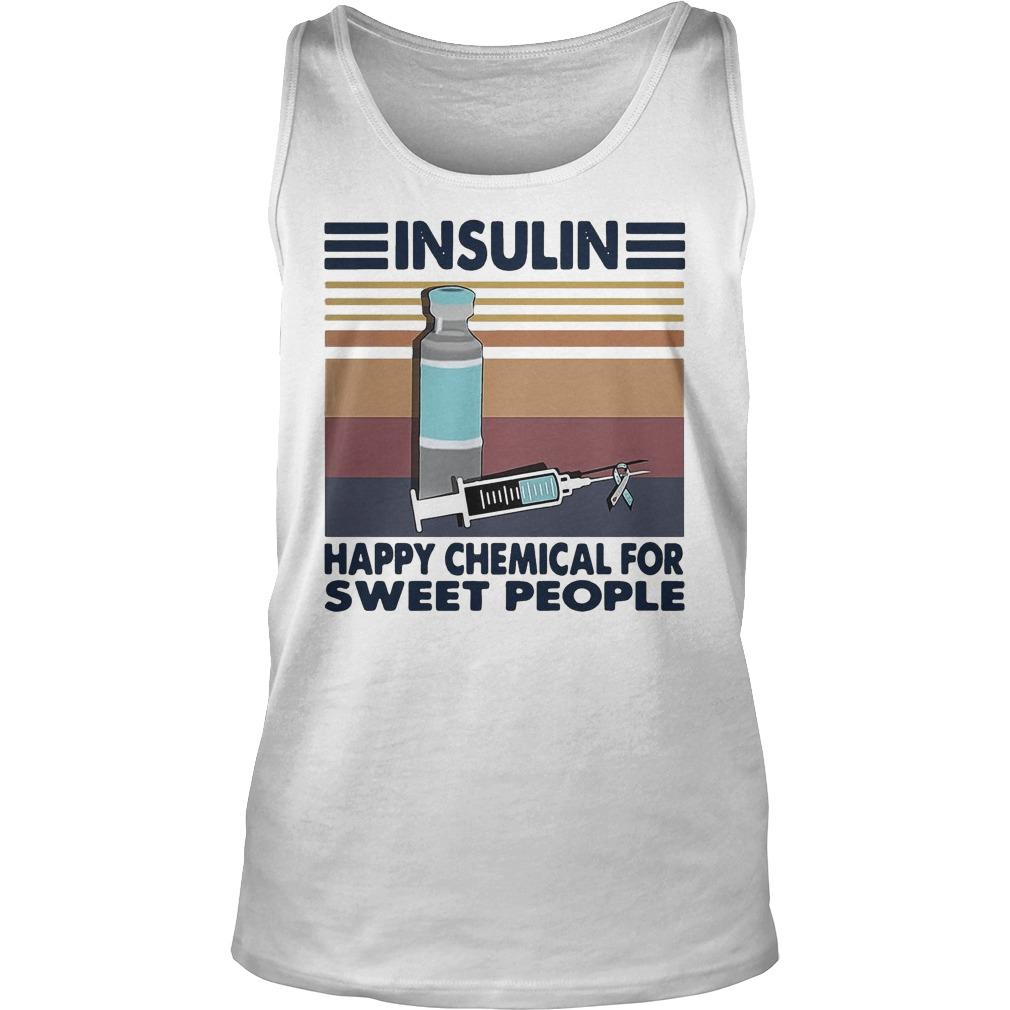 Vintage Insulin Happy Chemical For Sweet People Tank Top