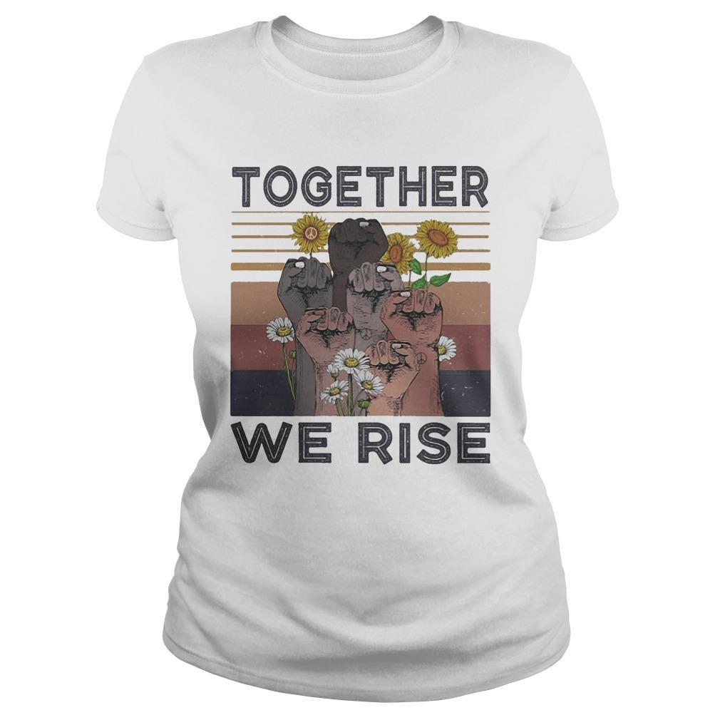 Vintage Juneteenth Day Black Lives Matter Together We Rise Longsleeve