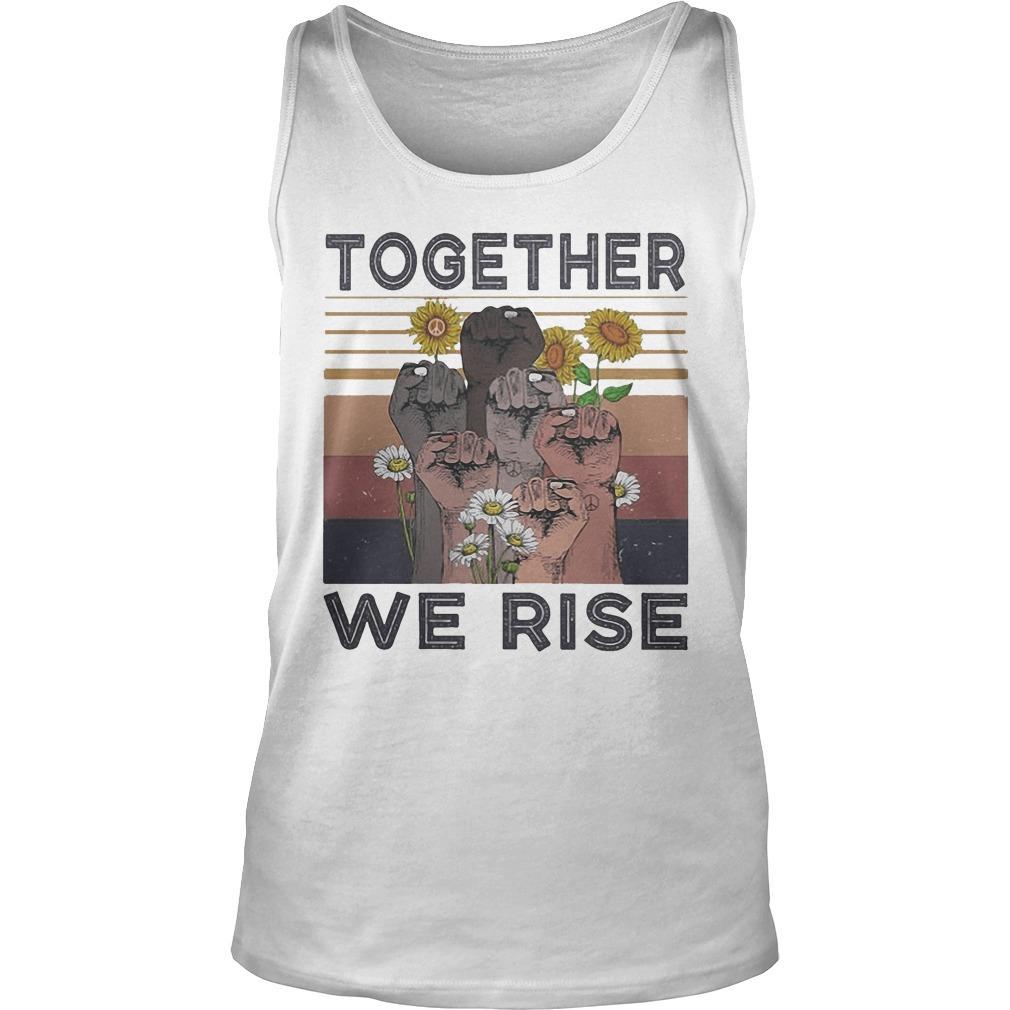 Vintage Juneteenth Day Black Lives Matter Together We Rise Tank Top