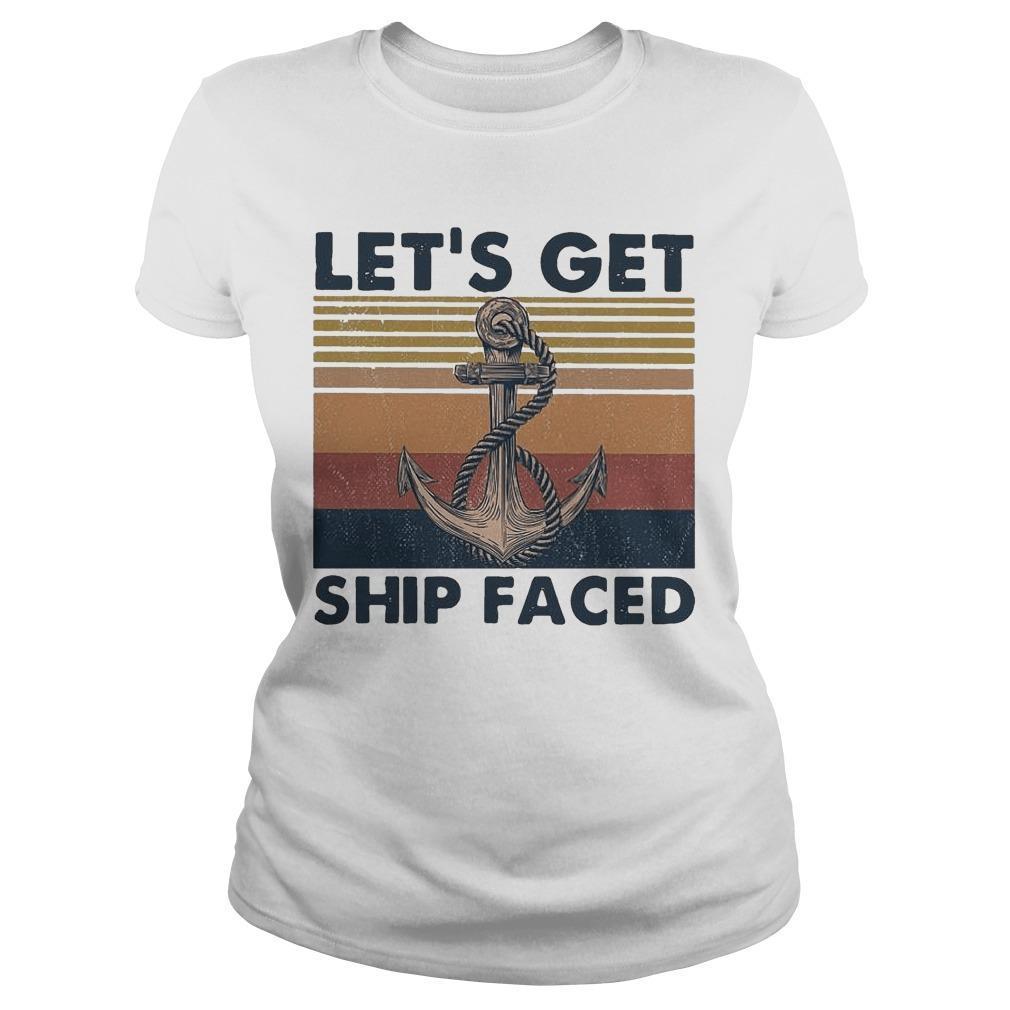 Vintage Let's Get Ship Faced Hoodie