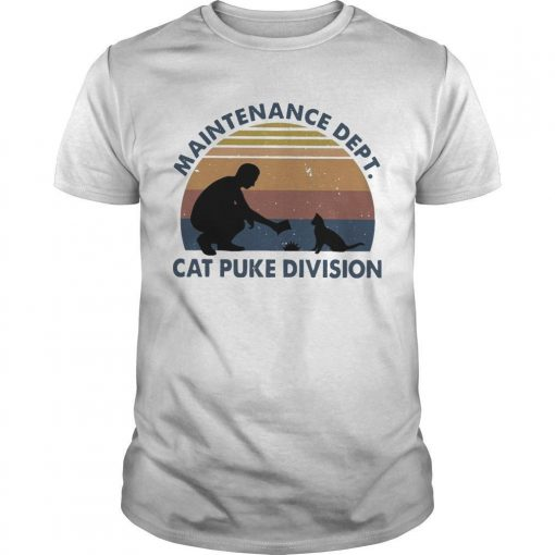Vintage Maintenance Dept Cat Puke Division Shirt