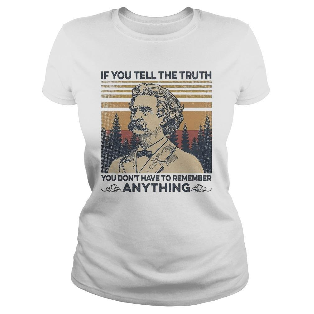 Vintage Mark Twain If You Tell The Truth You Don't Have To Remember Anything Longsleeve