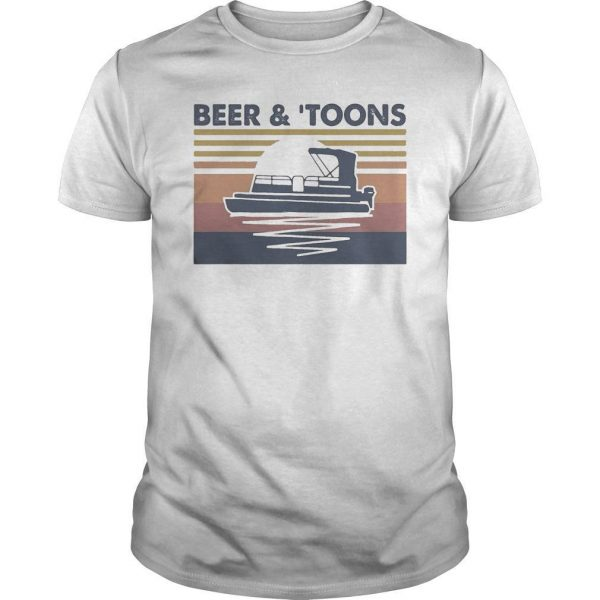 Vintage Moon Beer And Toons Shirt