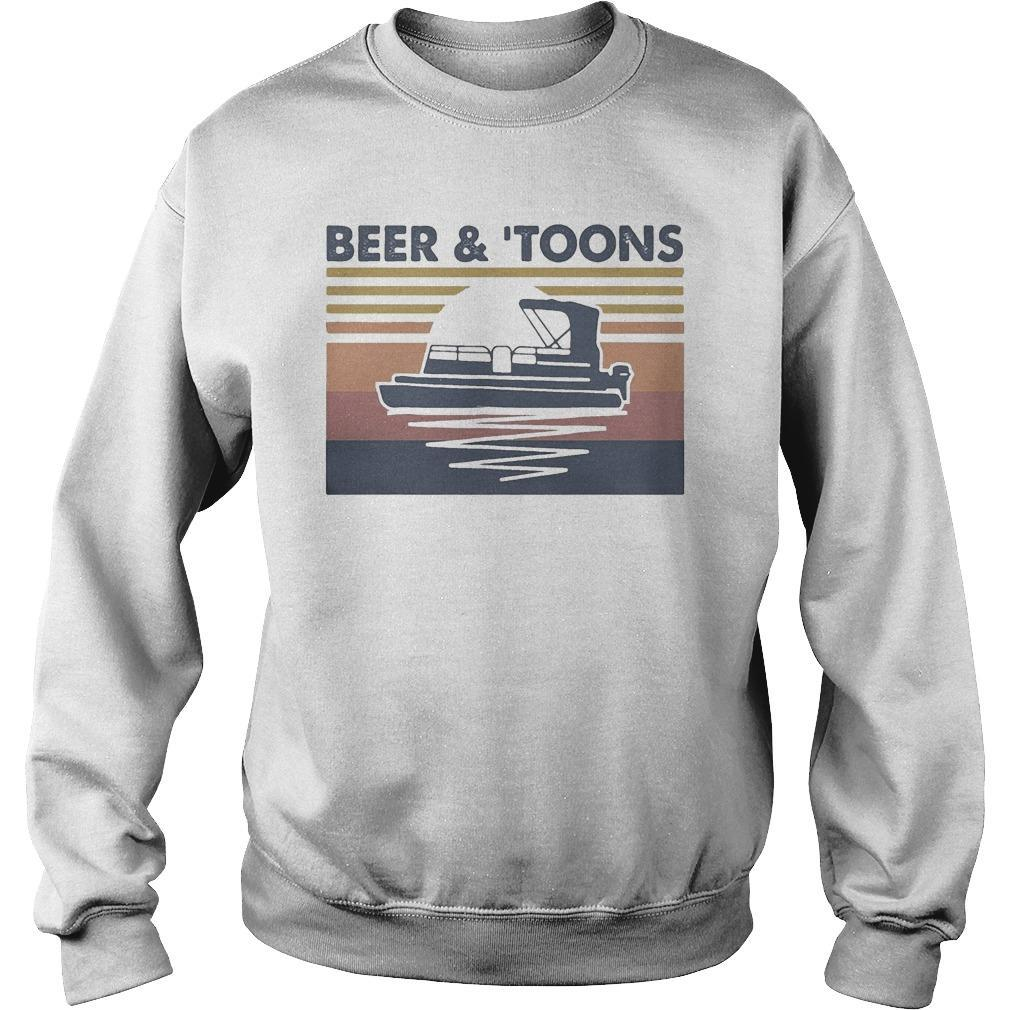 Vintage Moon Beer And Toons Sweater