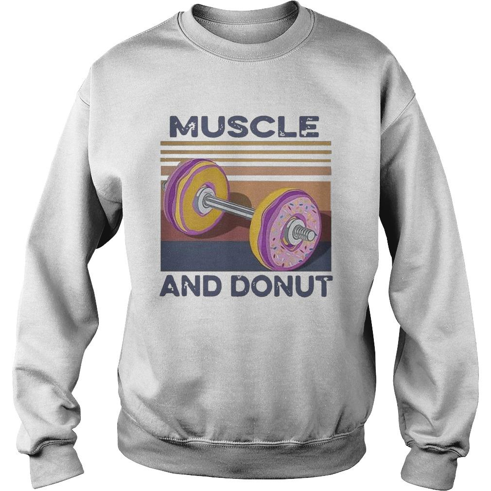 Vintage Muscle And Donut Sweater