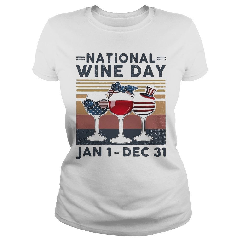 Vintage National Wine Day Jan 1 Dec 31 Longsleeve