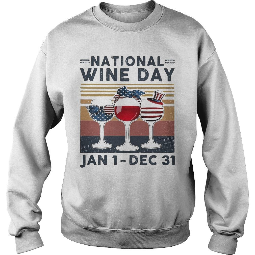 Vintage National Wine Day Jan 1 Dec 31 Sweater