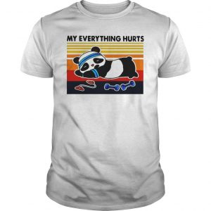 Vintage Panda Fitness My Everything Hurts Shirt