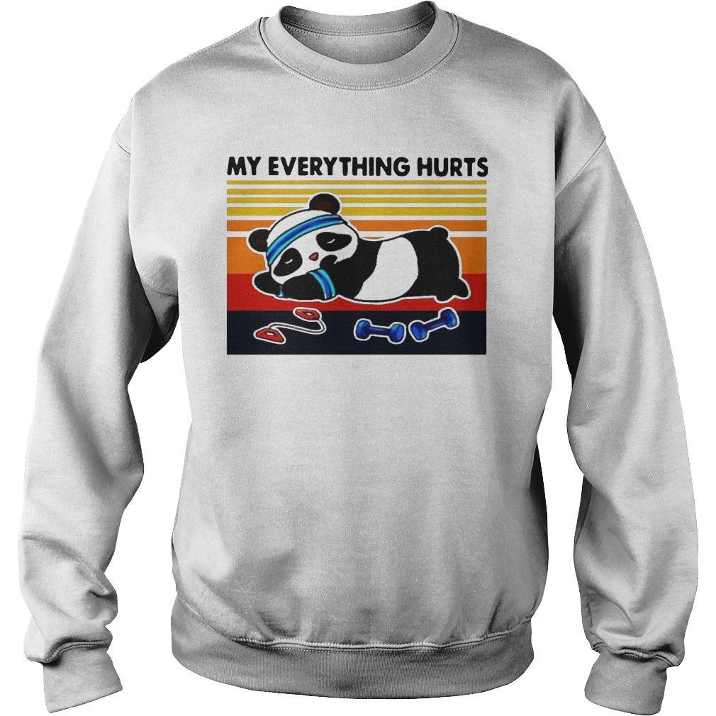 Vintage Panda Fitness My Everything Hurts Sweater
