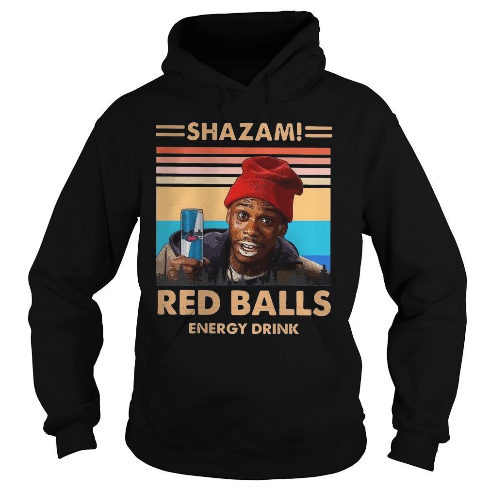 Vintage Shazam Red Balls Energy Drink Hoodie