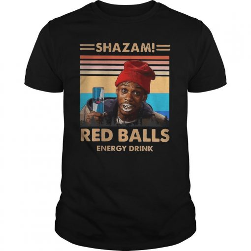 Vintage Shazam Red Balls Energy Drink Shirt