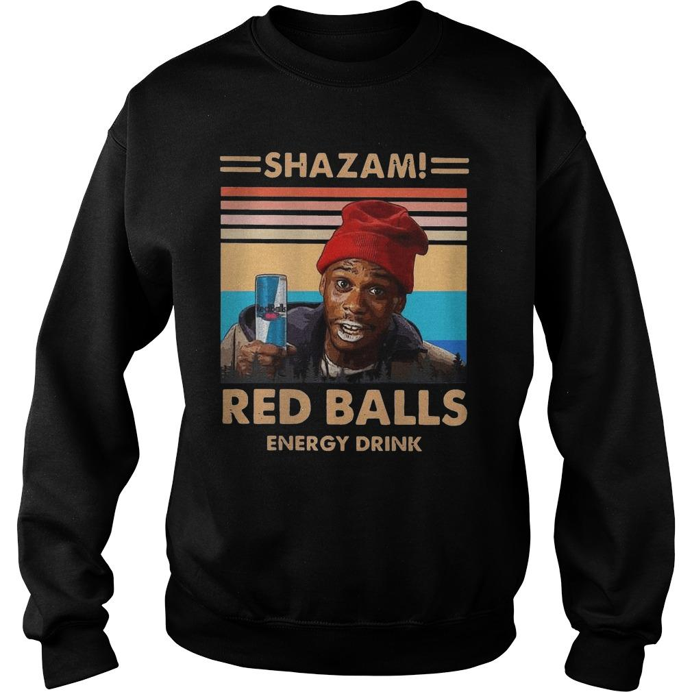 Vintage Shazam Red Balls Energy Drink Sweater