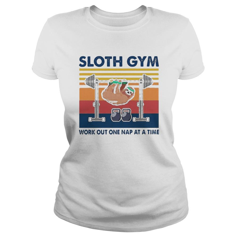 Vintage Sloth Gym Work Out One Nap At A Time Longsleeve