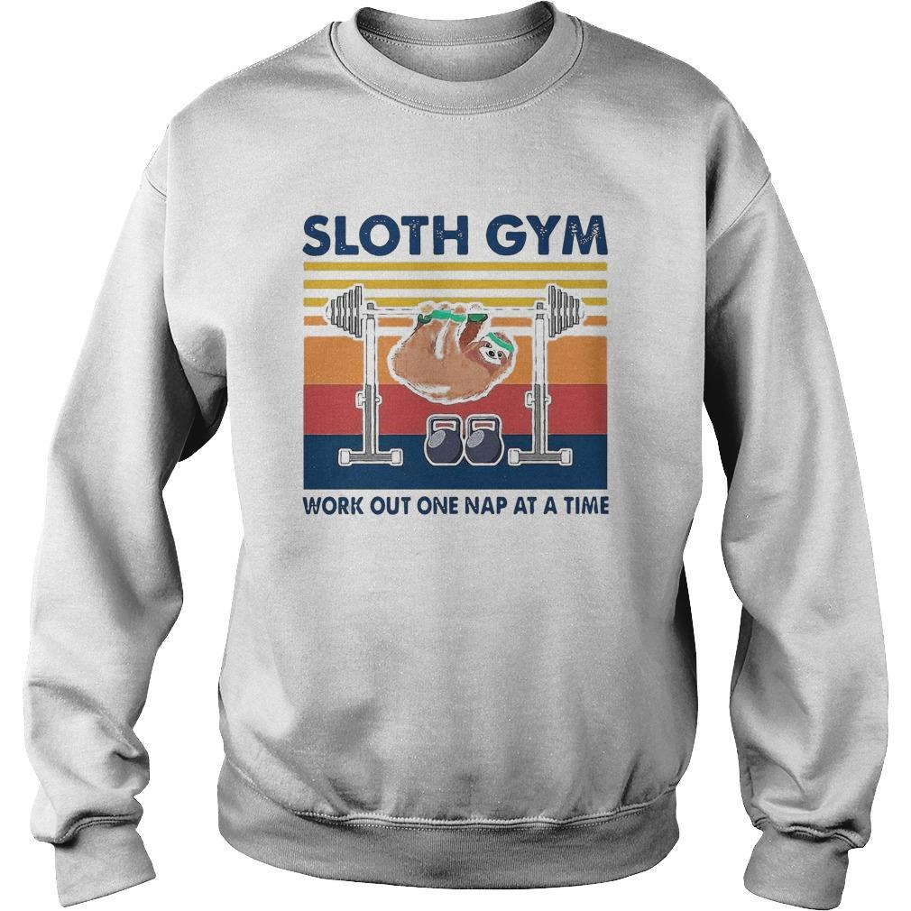 Vintage Sloth Gym Work Out One Nap At A Time Sweater
