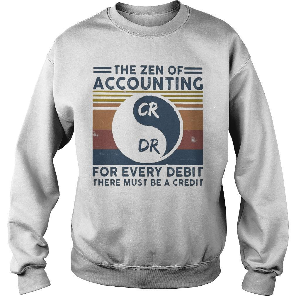 Vintage The Zen Of Accounting For Every Debit There Must Be A Credit Sweater