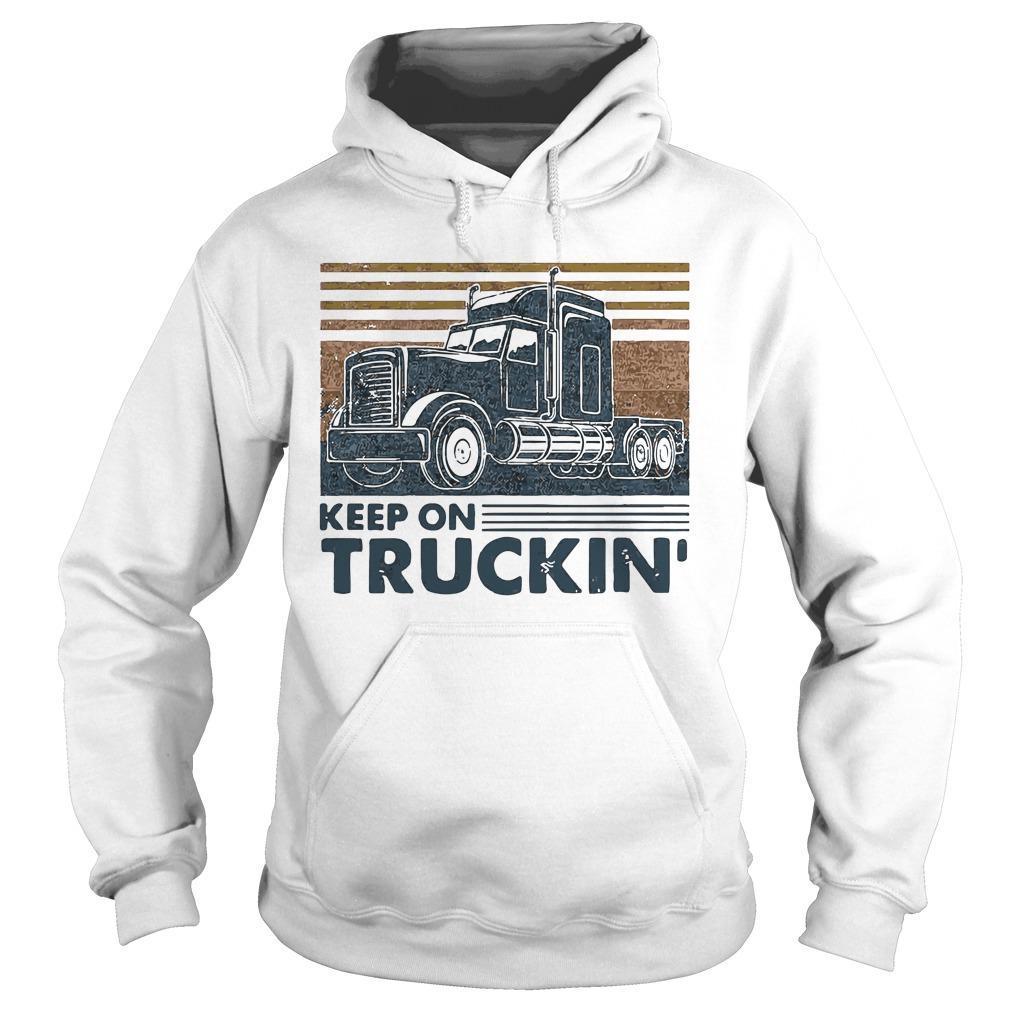 Vintage Trucker Keep On Truckin' Hoodie