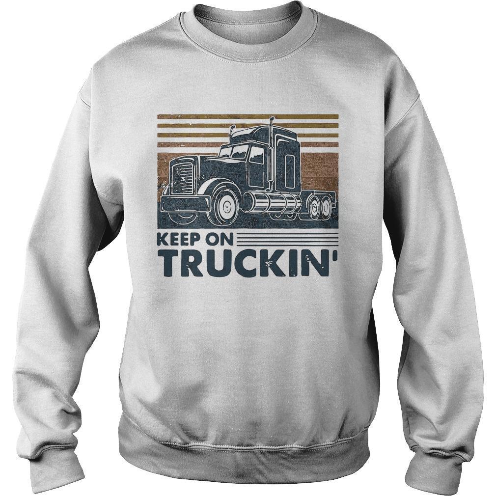Vintage Trucker Keep On Truckin' Sweater