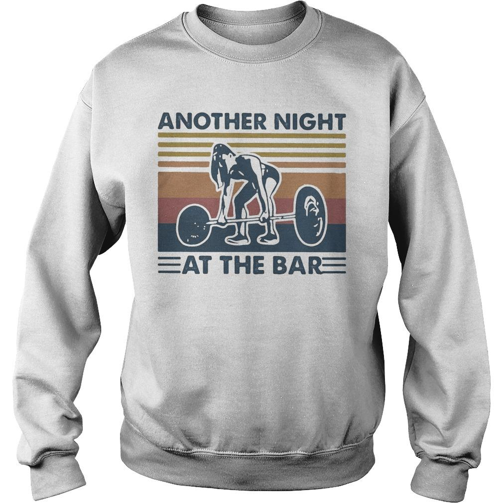 Vintage Weightlifting Another Night At The Bar Sweater