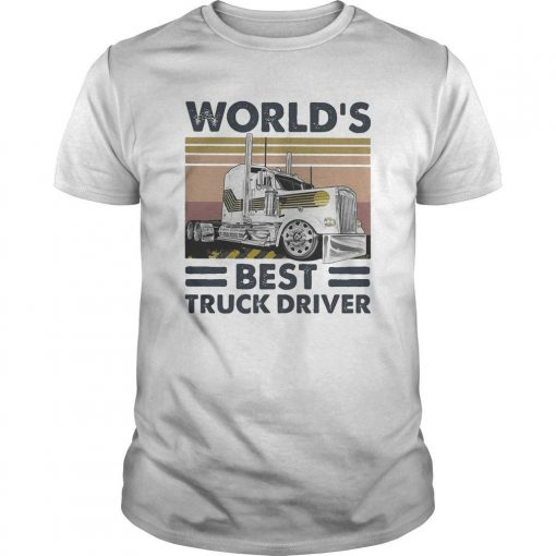 Vintage World's Best Truck Driver Shirt