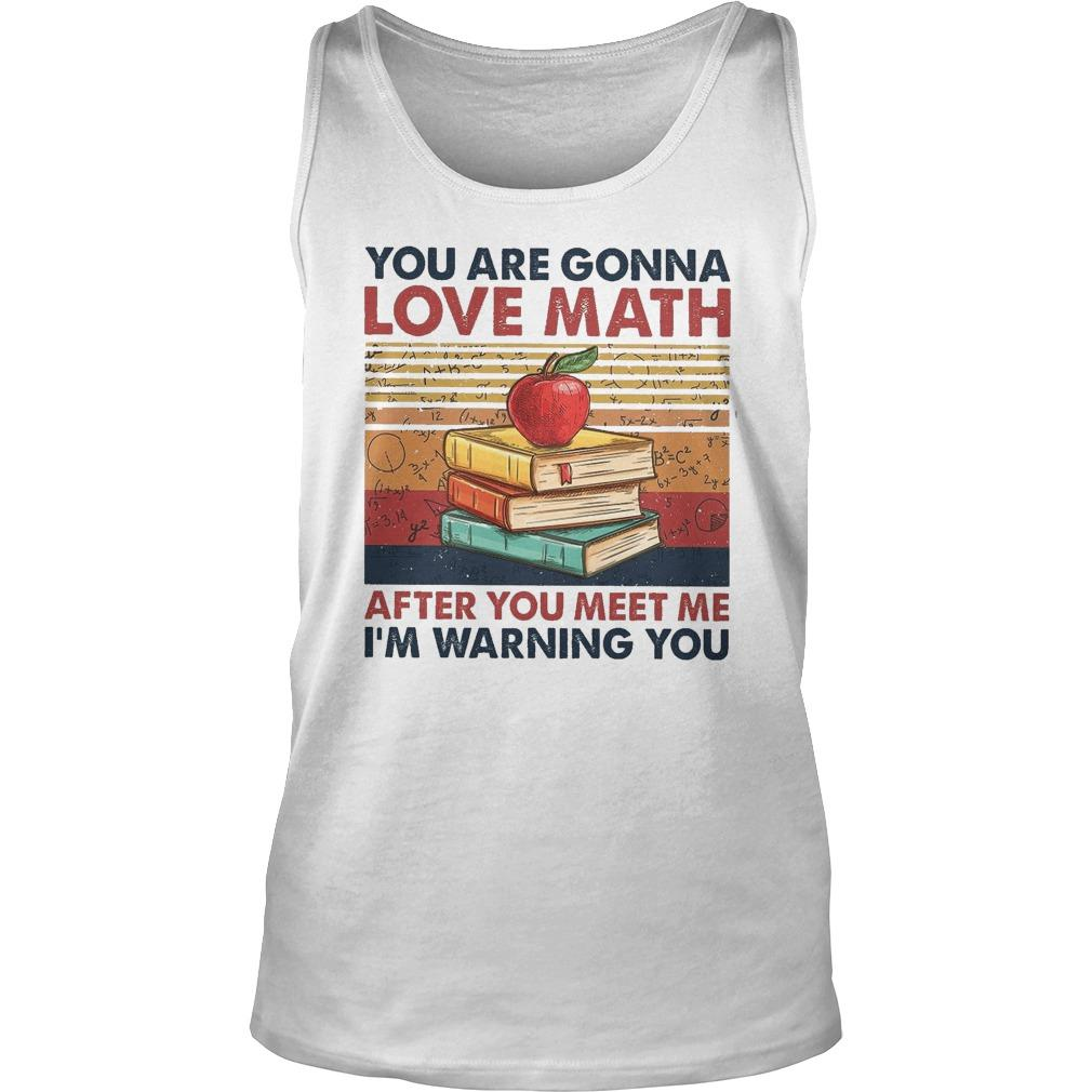 Vintage You Are Gonna Love Math After You Meet Me I'm Warning You Tank Top