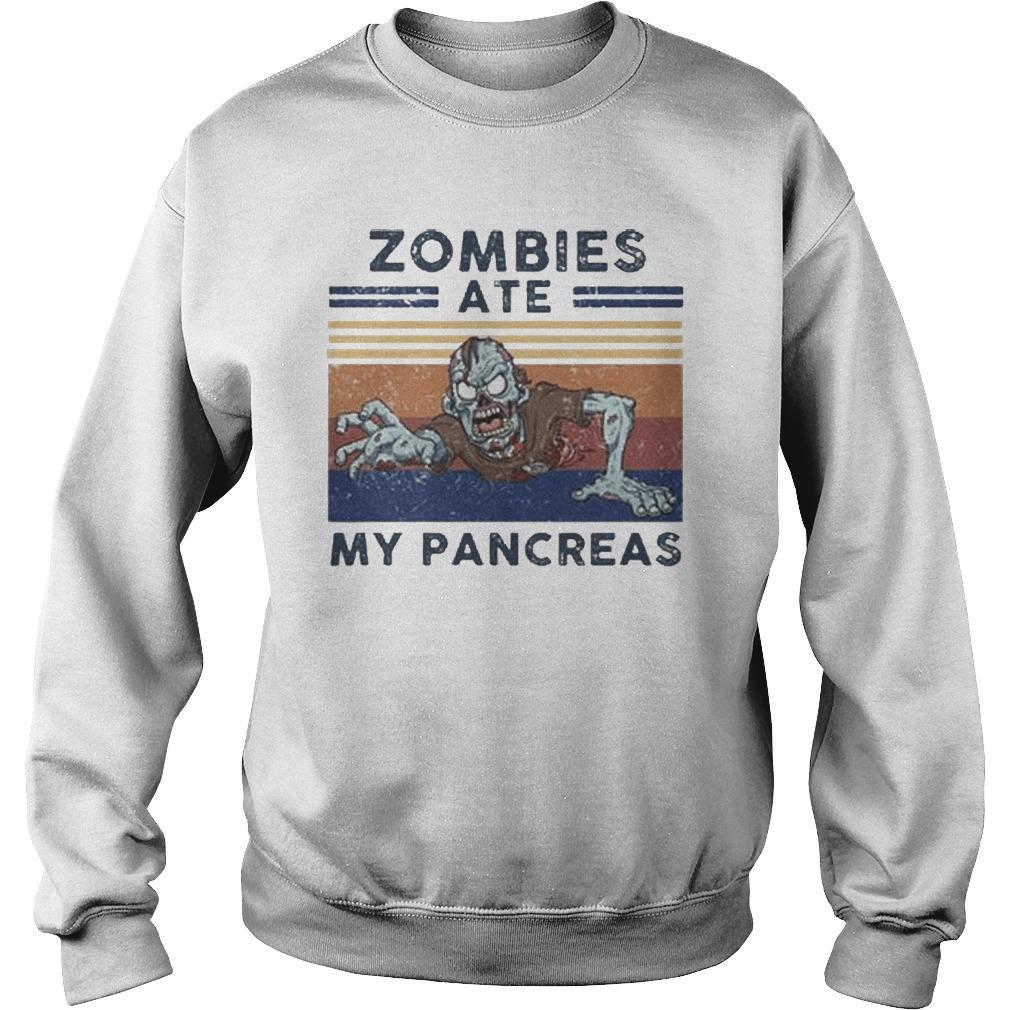 Vintage Zombies Ate My Pancreas Sweater