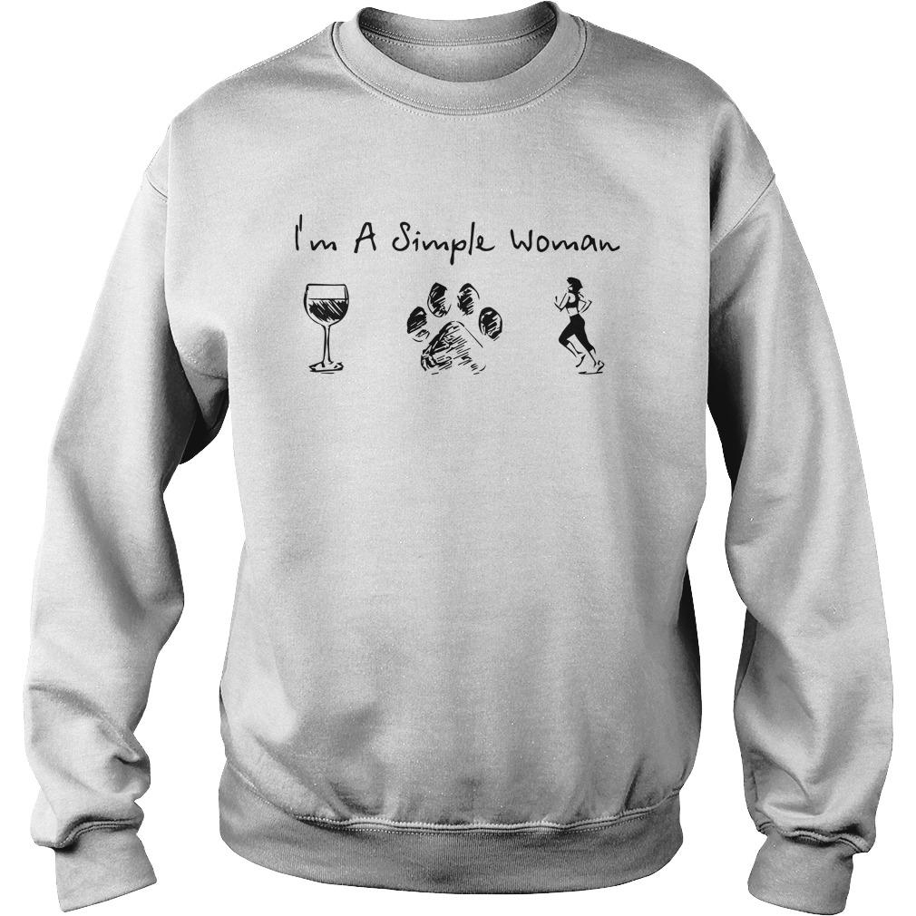 Wine Dog Paw Running I'm A Simple Woman Sweater