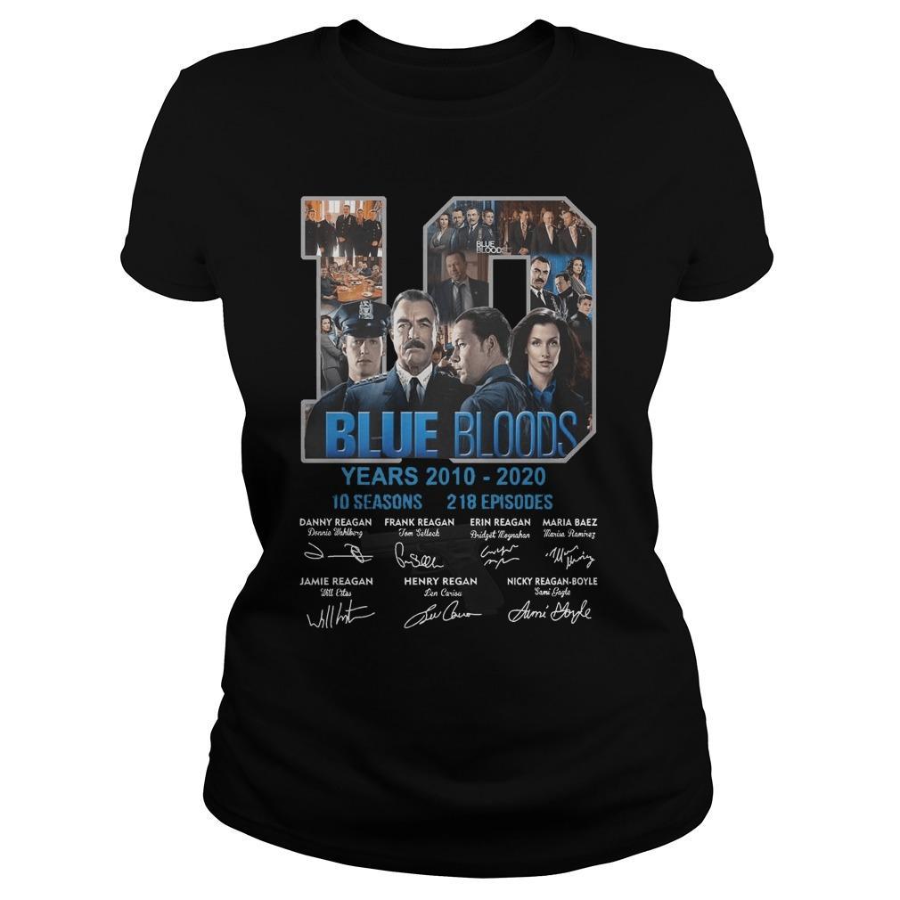 10 Years Blue Bloods 10 Seasons 218 Episodes Longsleeve
