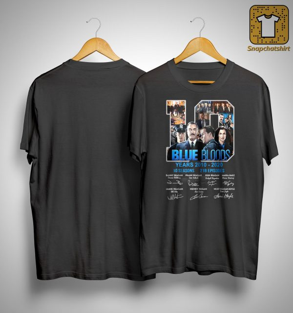 10 Years Blue Bloods 10 Seasons 218 Episodes Shirt