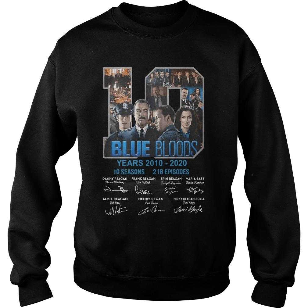 10 Years Blue Bloods 10 Seasons 218 Episodes Sweater