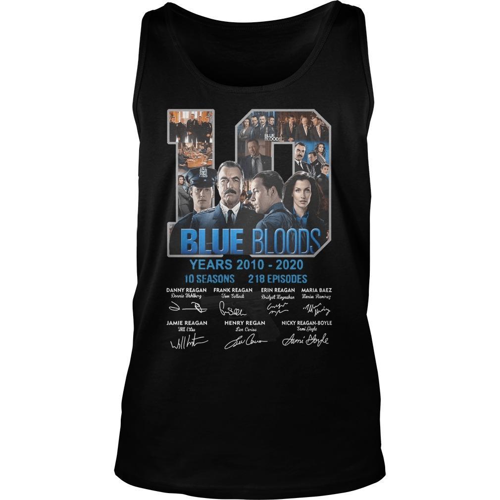 10 Years Blue Bloods 10 Seasons 218 Episodes Tank Top
