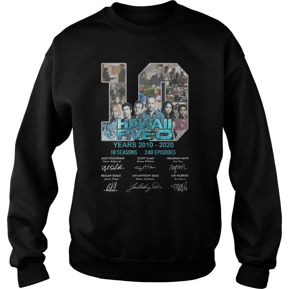 10 Years Hawaii Five 0 10 Seasons 240 Episodes Sweater