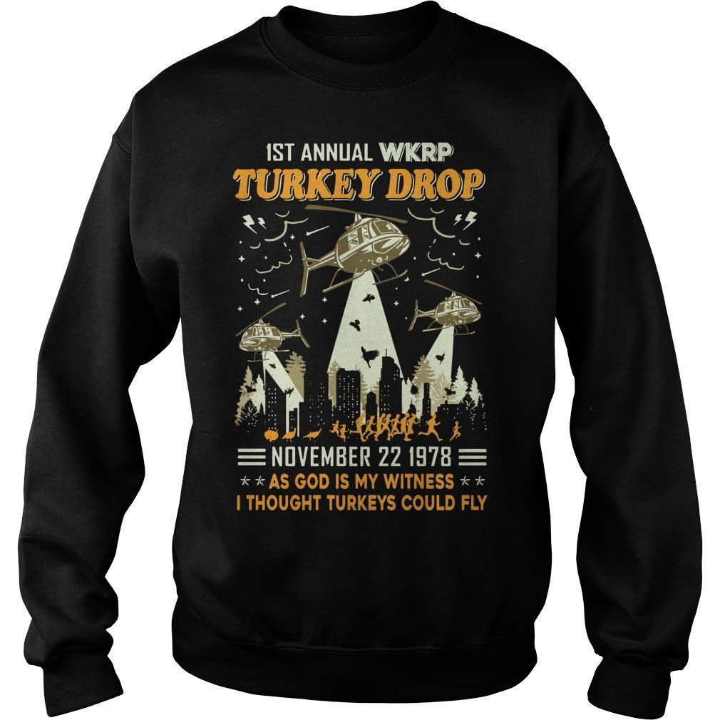 1st Annual Wkrp Turkey Drop November 22 1978 Sweater