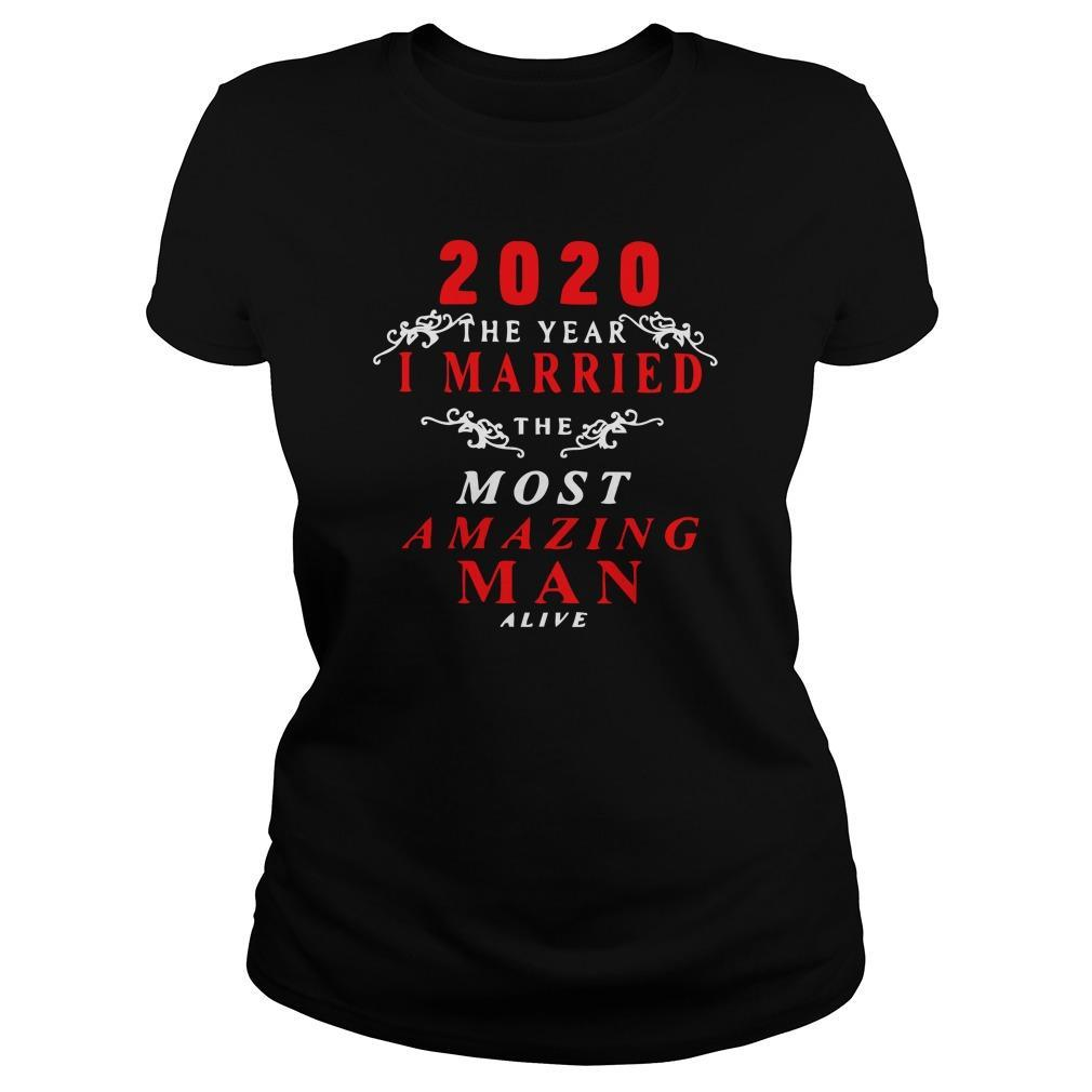 2020 The Year I Married The Most Amazing Man Alive Hoodie