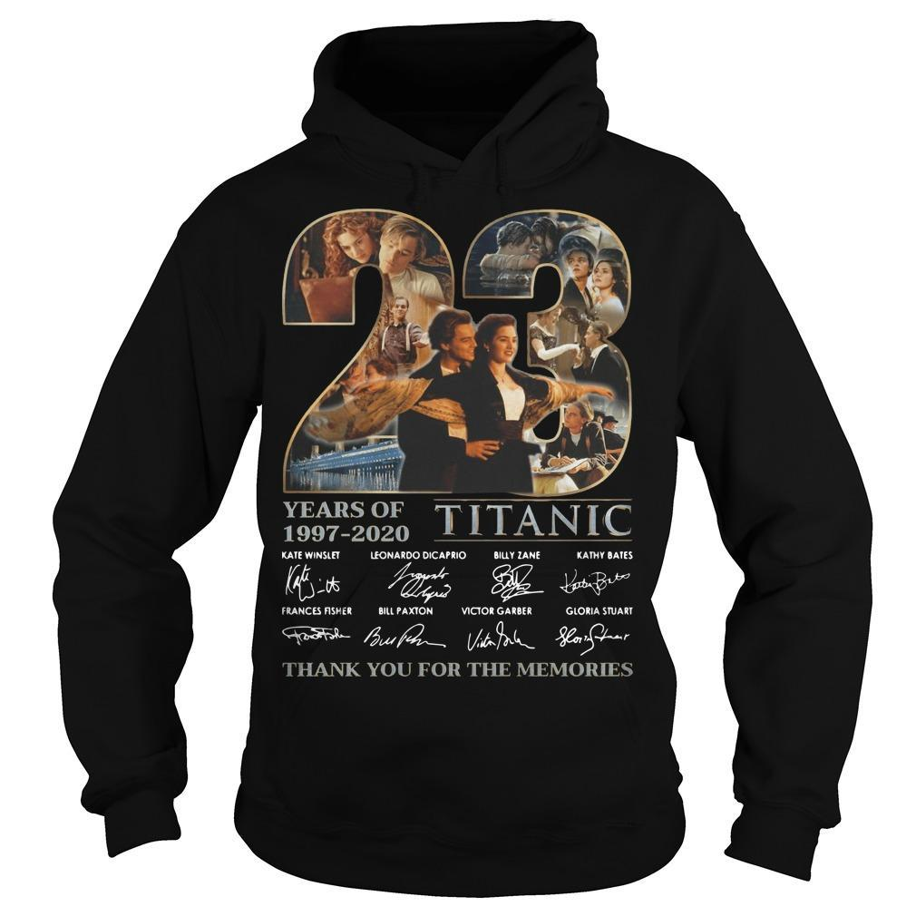 23 Years Of Titanic Thank You For The Memories Hoodie