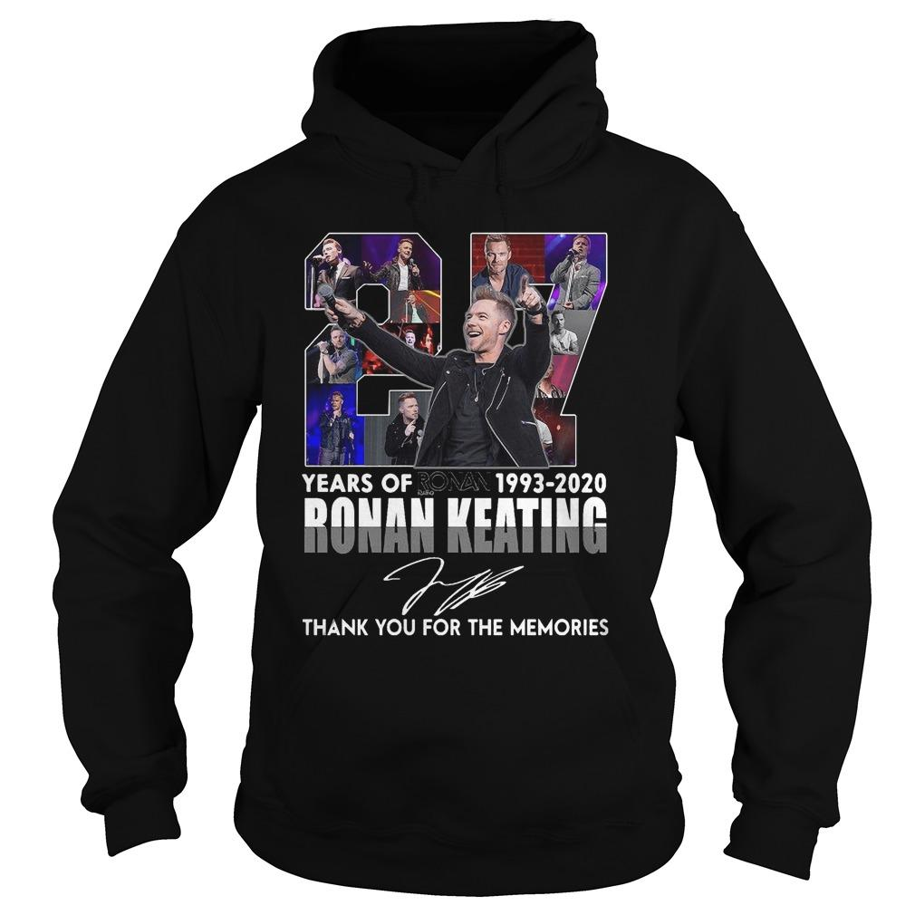 27 Years Of Ronan Keating Thank You For The Memories Hoodie