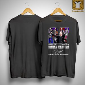 27 Years Of Ronan Keating Thank You For The Memories Shirt