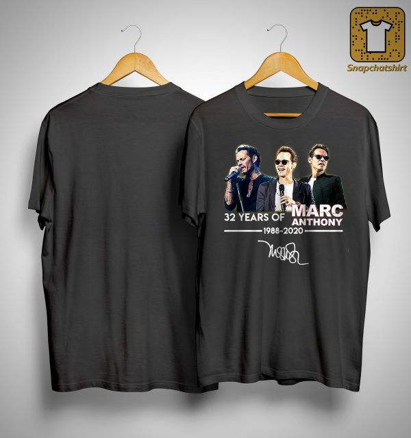 32 Years Of Marc Anthony 1988 2020 Shirt