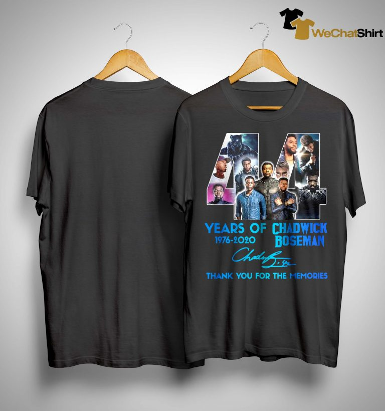 44 Years Of Chadwick Boseman Thank You For The Memories Shirt
