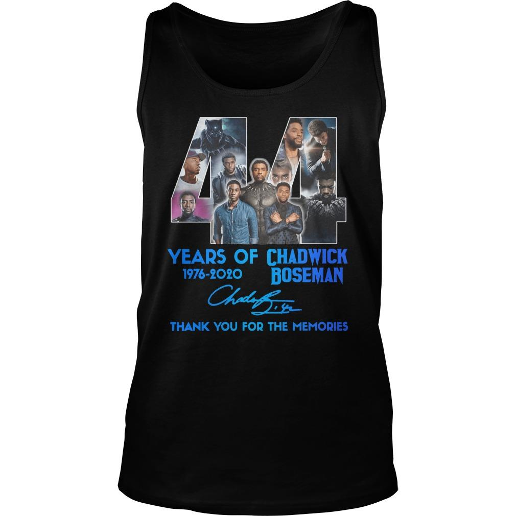 44 Years Of Chadwick Boseman Thank You For The Memories Tank Top