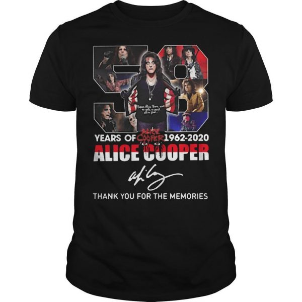 58 Years Of Alice Cooper Thank You For The Memories Shirt